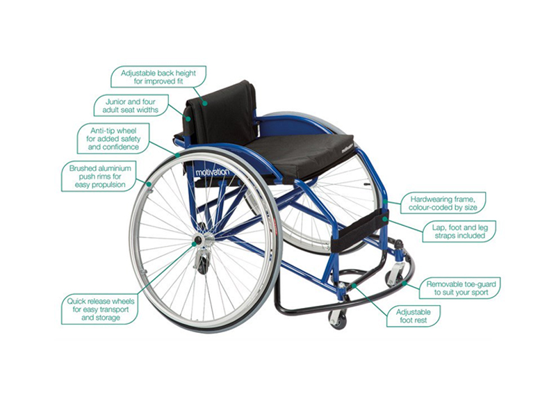 Low cost sports wheelchair